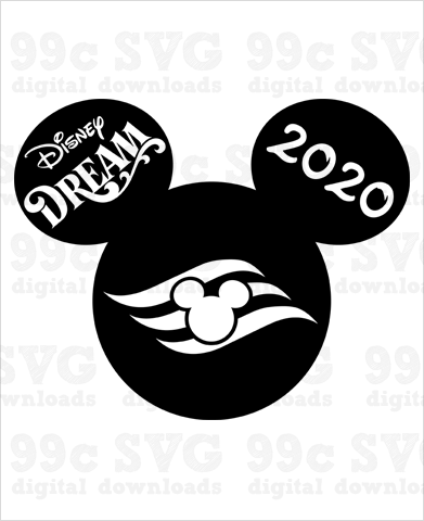 Disney Dream Cruise 2020 Mickey SVG