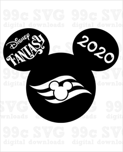 Disney Fantasy Cruise 2020 Mickey SVG