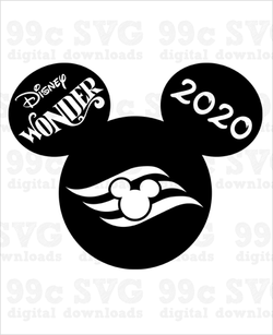Disney Wonder Cruise 2020 Mickey SVG