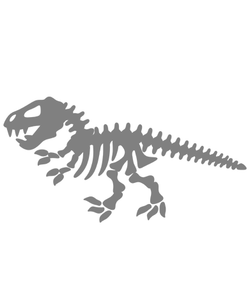Dinosaur Skeleton Pin 20 Color Clip Art