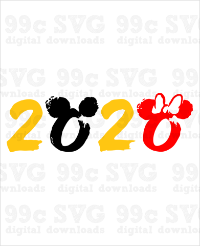 2020 Disney Logo SVG