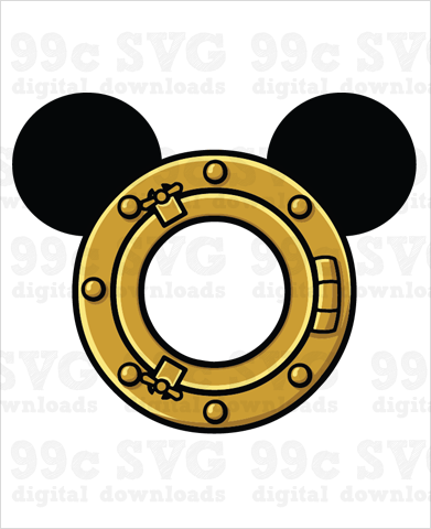 Disney Cruise Porthole Mickey SVG