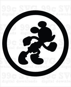 Run Disney Mickey Logo SVG