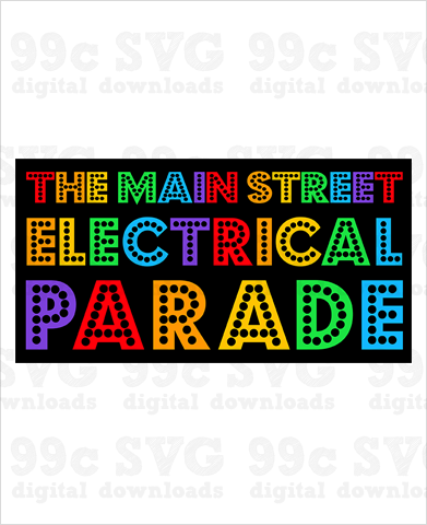 Main Street Electrical Parade Logo SVG