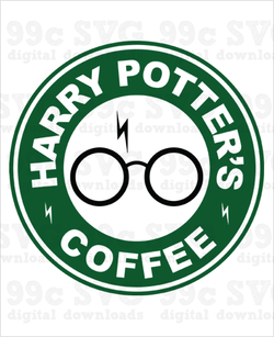 Harry Potter Coffee Logo SVG