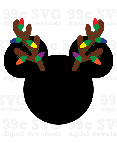 Mickey Christmas Antlers SVG