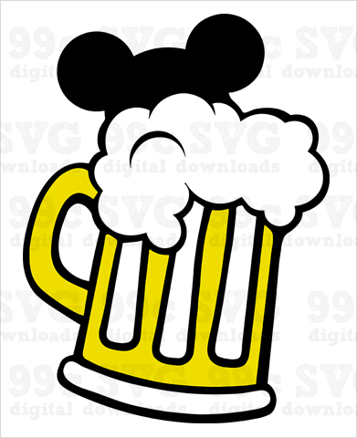 Mickey Beer Mug SVG