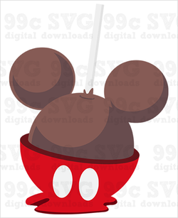 Mickey Candy Apple SVG