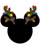 Mickey Mouse Christmas Antlers SVG