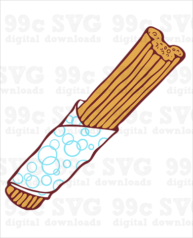 Mickey Churro SVG