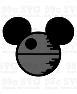 Mickey Death Star SVG