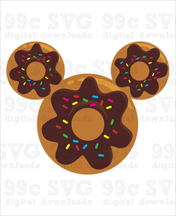 Mickey Donut SVG