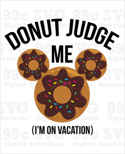 Donut Judge Me Mickey SVG