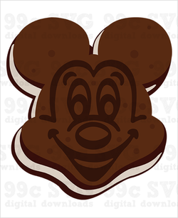 Mickey Ice Cream Sandwich SVG