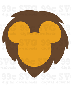 Safari Mickey Lion SVG