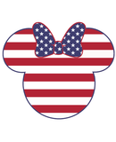 Minnie Mouse Americana SVG