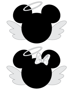 Mickey and Minnie Mouse Angel SVG