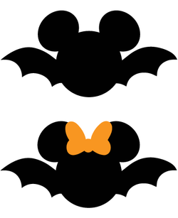 Mickey and Minnie Mouse Bat SVG
