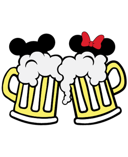 Mickey and Minnie Mouse Beer Mugs SVG
