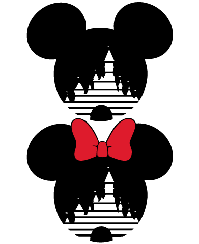 Instant Download Mickey And Minnie Mouse Magic Castle Svg