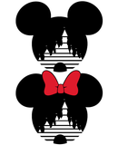 Mickey and Minnie Mouse Magic Castle SVG