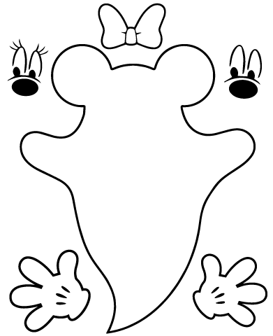 Instant Download Mickey And Minnie Mouse Ghost Svg
