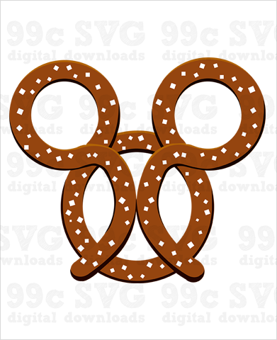 Mickey Pretzel SVG