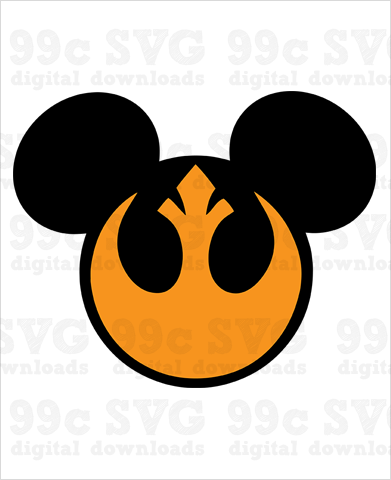 Mickey Rebel Aliance SVG
