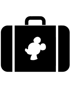 Mickey Mouse Suitcase SVG