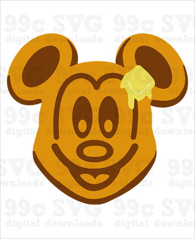 Mickey Waffles SVG