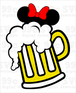 Minnie Beer Mug SVG