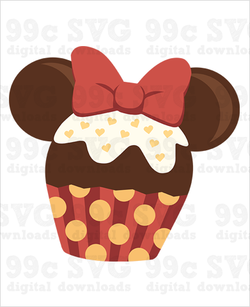 Minnie Cupcake SVG