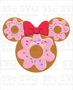 Minnie Donut SVG