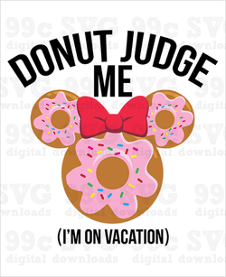 Donut Judge Me Minnie SVG
