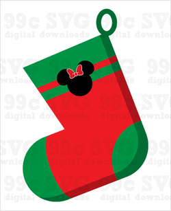 Minnie Stocking SVG