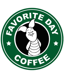 Starbucks Inspired Piglet Coffee Logo - Favorite Day Coffee