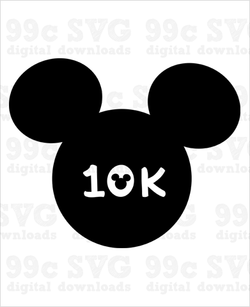 Run Disney 10k SVG