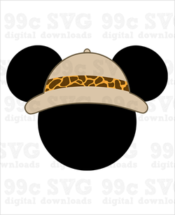Safari Hat Mickey SVG