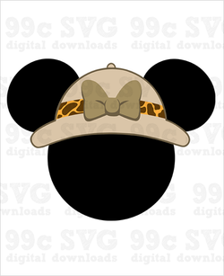 Safari Hat Minnie SVG