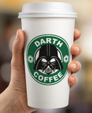 Starbucks Inspired Logo Darth Vaderl - Darth Coffee Mockup