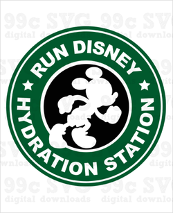 Run Disney Hydration Station Logo SVG