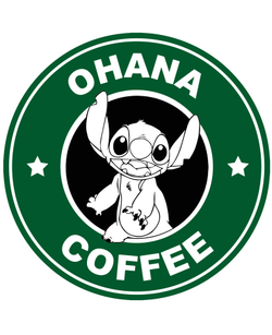Starbucks Inspired Logo Stitch - Ohana Coffee
