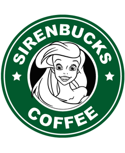 Starbucks Inspired Logo Ariel - Sirenbucks Coffee