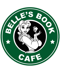 Starbucks Inspired Logo Belle - Belle's Book Cafe