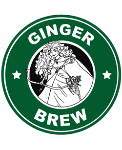Starbucks Inspired Logo Merida - Ginger Brew