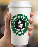 Starbucks Inspired Logo Mickey Mouse - Main Street Coffee Mockup