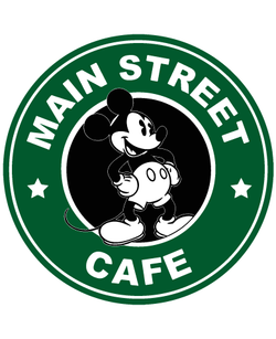 Starbucks Inspired Logo Mickey Mouse - Main Street Coffee