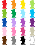 Abraham Lincoln 20 Color Clip Art Preview