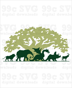 Animal Kingdom Tree of Life SVG