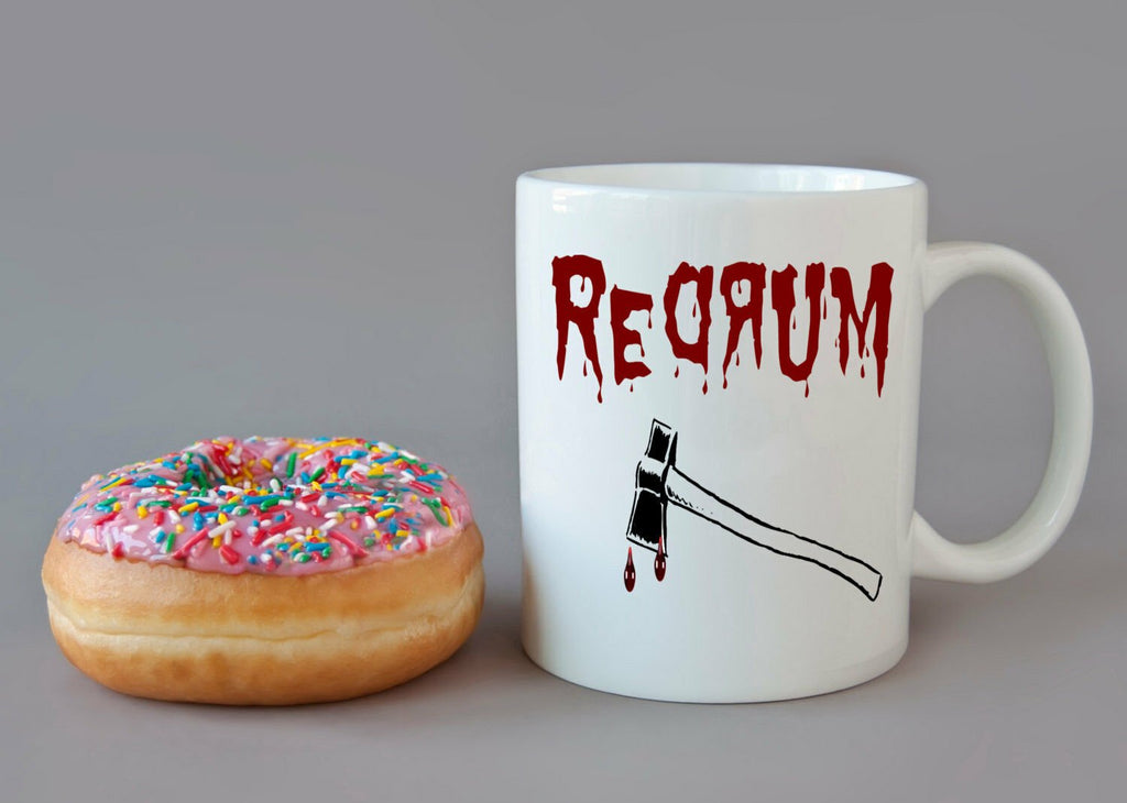 REDRUM The Shining Stephen King  Coffee Mug HALLOWEEN Murder HORROR Ax Bloody